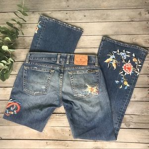 Lucky Brand | floral embroidered lil maggie jeans